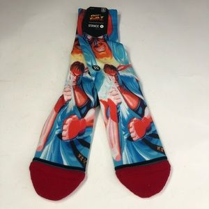 Capcom Street Fighter II Ryu Fighter X Stance Sock